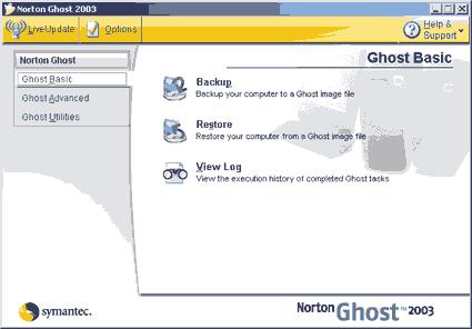 ghost ana ekranı